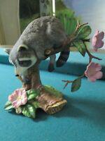 "1990 Lenox Porcelain WOODLAND ANIMALS -Racoon- Figurine ""Twilight Mischief"""