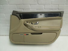 Audi A8 D3 SWB Front OS Right Cream Beige Leather Door Card