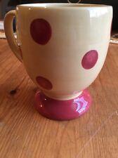 "Southern Living ""Gail Pittman"" Yellow/Red Polka Dot Coffee Pedestal Sienna Mug"