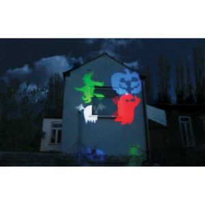 Halloween Garden Projector- Ghost, Witch, Pumpkin Projections on House or Wall!