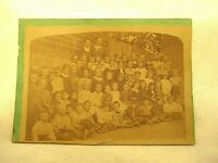 Antique Cabinet Photo CDV Large Group of Children Boys Girls