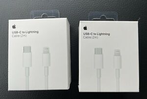 Genuine Apple 2m USB Type C-to-Lightning Charging Cable. (2 Pack) MKQ42AM/A