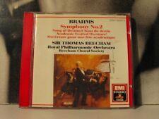 BRAHMS SYMPHONY NO. 2 SONG OF DESTINY BEECHAM CD AS NEW