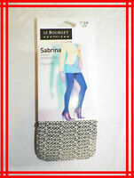 LE BOURGET SABRINA NEUF Taille 3 - 4  collants fantaisie NOIR Tights strumpfhose