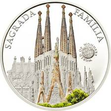 Palau 2013 5$ World of Wonders VII Sagrada Familia .925 Proof Silver Coin
