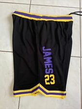 Color : Purple, Size : S YSPORT Los Angeles Lakers Short Basket Uniforme Fans Maillots Swingman Respirant Et Portable Maille Brod/ée Short S-XXL