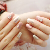 24Pcs Mixed False Nails Art Tips Natural Clear French Full Half Cover Manicure