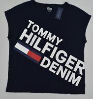 NWT Tommy Hilfiger Denim Women's Tee (T) Shirt/Blouse Cap-Sleeve Small S