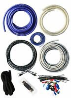 SoundBox T4AW-B, 4 Gauge Amplifier Install Kit Complete Amp Wiring Cables, 3500W