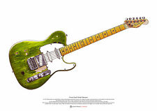 Francis Rossi's Fender Telecaster guitar ART POSTER A2 size