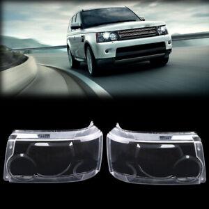 For Land Rover Range Rover Sport 2006-2009 Pair Headlight Headlamp Lens Cover