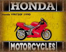 Honda VFR750F 1990 MOTORCYCLE METAL TIN SIGN POSTER WALL PLAQUE