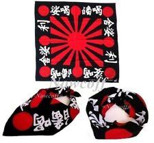 3 Pcs Red Sun Bandana Japanese Rising Sun Japan Flag Headband Biker Cloth Battle