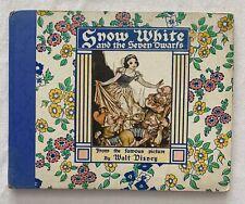 WALT DISNEY  SNOW WHITE AND THE SEVEN DWARFS  1938  GROSSET & DUNLAP  BOOK