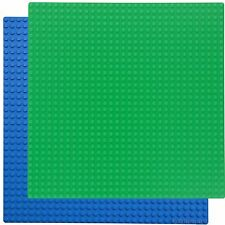 1Green & 1Blue 10x10 Base Plate compatible with LEGO +1 Genuine LEGO piece-brick