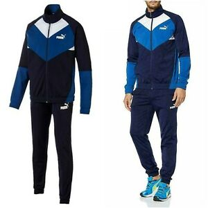 PUMA CB Core Basics Men's Retro Tracksuit Trousers and Full Zip Jacket Training