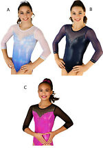 New! Finesse Gymnastics Competition Leotard by Snowflake Designs