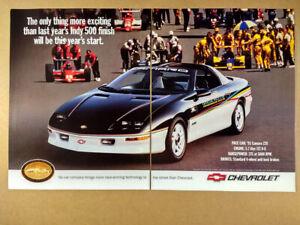 1993 Chevrolet Camaro Z28 Indy 500 Pace Car vintage print Ad