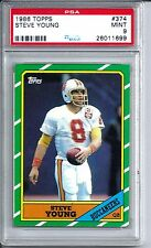 1986 Topps Football #374 Steve Young Rookie Card PSA 9