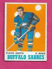 1970-71 OPC # 140 SABRES FLOYD SMITH  EX-MT  CARD  (INV# C2443)