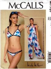 McCalls Sewing Pattern 7787 M7787 Misses Bikini and Jumpsuit Size 12-14-16-18-20