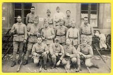 "cpa CARTE PHOTO Soldats 151eme Régiment ""Les AS de la PIAULE 173"" Affût de Canon"