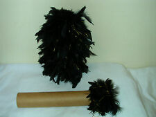 """Black/Gold Feather Plume For Band Uniform/cheerleading Hat, 10"""" NEW. BUY 5 GET 6"""