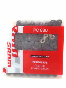 SRAM PC-830 BICYCLE BIKE 1/2X3/32 CHAIN 7/8 Speed New
