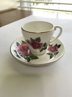 English Bone China Tea Cup and Saucer Pink Roses Flowers England
