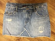 One Tuff Babe Mini Denim Jean Skirt 7 / 8 Measures 29 Waist VGUC