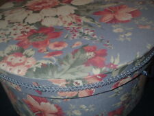 Vintage Hat Box fabric over cardboard beautiful