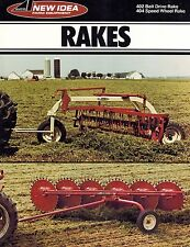 NEW IDEA 404 402 SPEED and BELT DRIVE RAKES  SPECIFICATIONS and SALES BROCHURE
