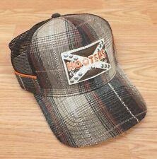 Brown Tone Plaid Hooters Casino Hotel Las Vegas Snap Back Trucker Style Hat