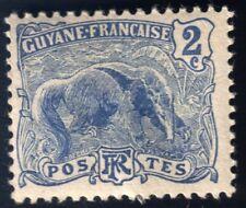 French Guyane Guiana Stamp, Unused, Hinged, 1904, Gum, Anteater
