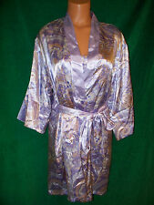 Jones New York lavender abstract print robe S/M & matching short gown sz L  NICE