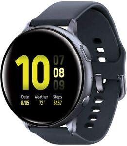 Samsung Galaxy Watch Active 2 44mm GPS Black Smartwatch With Bonus Charging Dock