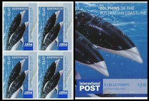 2009 Dolphins of the Australian Coastline - $1.40 Sheetlet Block of 4 Stamps
