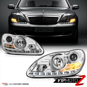 Euro Clear Projector HID D2S Xenon Headlights LED DRL 03-06 W220 S430/S500 AMG