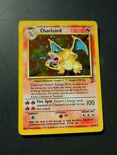 Pokemon CHARIZARD 4/130- BASE SET 2 HOLO - (PL/EX)