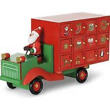Gisela Graham Childrens Christmas Lorry Advent Calendar - Wooden Keepsake
