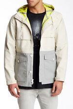 $225 Levi's California Sierra Men's Waterproof Hooded Jacket White SMALL ~NWT