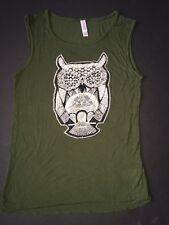 Women's Green Tank Top With Embroidered Design By Xhilaration - Size S/P