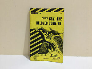 Paton's Cry, the Beloved Country by Cliffs Notes Staff (1970, Paperback)