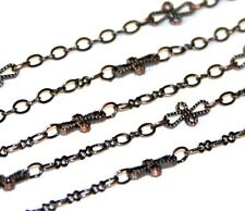 2ft of handmade Antiqued Copper quality chain  10X5mm