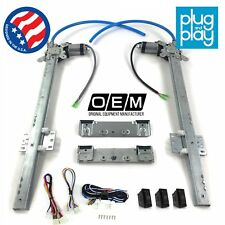 Jeep Willys 1944 - 1952 Power Window Regulator Kit w/ 3 LED Switches Overland