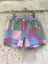 Toddler Bella Bliss Preppy Patchwork Shorts Adjustable Waist Sz 4