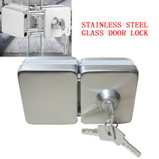 Stainless steel10-12mm glass double door lock square Double Sides anti-theft New