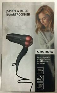 Compact Hair Dryer GRUNDIG HD 2509 R - 1500W Black, Red (see Condition Descrip)