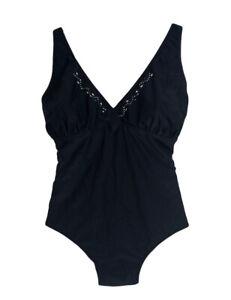 Costume donna Intero PANAREA BEACH 251 nero taglie forti