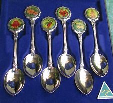 BOXED SET 6 PERFECTION COLLECTOR SPOONS FLOWERS OF AUSTRALIA